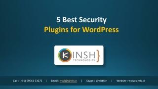 5 Best Security Plugins for WordPress