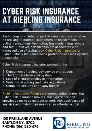 Cyber Risk Insurance at Riebling Insurance