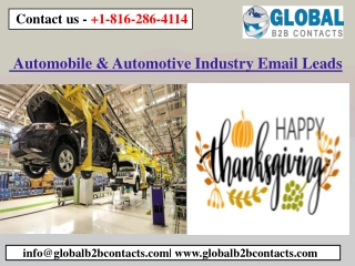 Automobile & Automotive Industry Email Leads