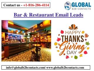 Bar & Restaurant Email Leads