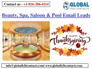 Beauty, Spa, Saloon & Pool Email List