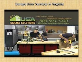 Garage door services in Virginia