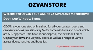 In Melbourne shop for caravan accessories