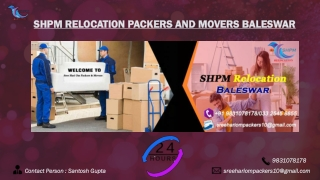 SHPM Packers and Movers Baleswar