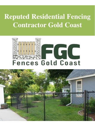 Reputed Residential Fencing Contractor Gold Coast