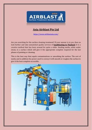 Blast Machine Supplier
