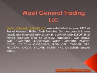 Industrial Salt supplier - Wasit General Trading LLC