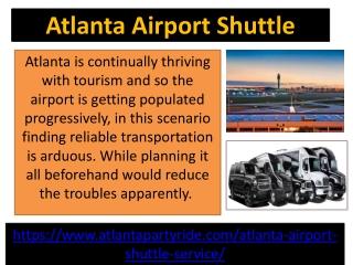 Best Atlanta Airport Shuttle Services in Georgia-Atlanta Party Ride