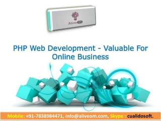 PHP Web Development - Valuable For Online Business