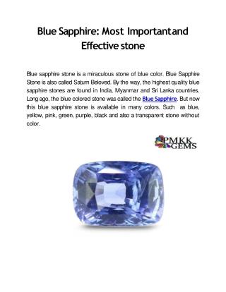 Buy Blue Sapphire (Neelam) Gemstone Online Wholesale