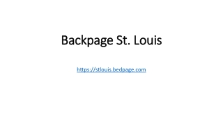 Backpage St. Louis