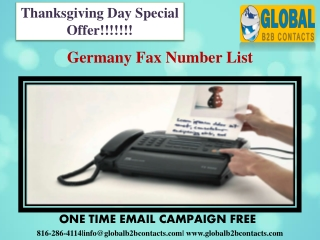 Germany Fax Number List