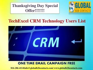 TechExcel CRM Technology Users List