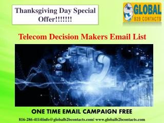 Telecom Decision Makers Email List
