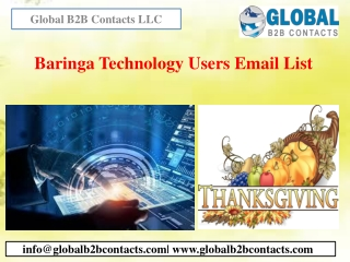 Baringa Technology Users Email List