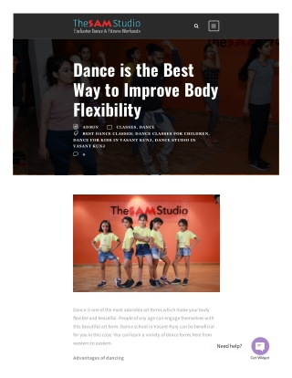 Dance is the Best Way to Improve Body Flexibility