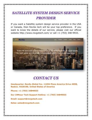 Satellite System Design Service Provider