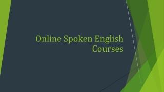 Online Spoken English Courses