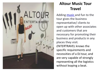 Altour Music Tour Travel
