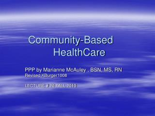 Community-Based       HealthCare