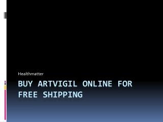 Buy Artvigil online for free shipping