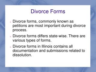 Illinois Divorce Forms