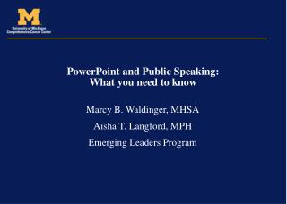 PowerPoint and Public Speaking: What you need to know