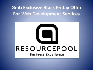 Grab Exclusive Black Friday Offer For Web Development Services