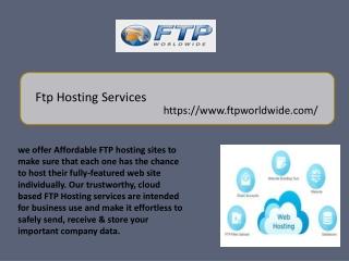 Ftp Hosting Services