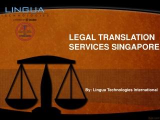 Legal Translation Services Singapore