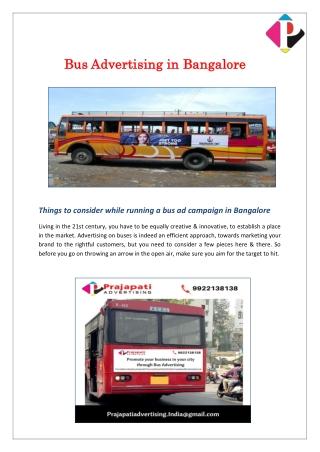 Bus Advertising in Bangalore - Prajapati Advertising