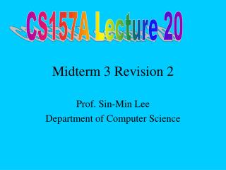 Midterm 3 Revision 2