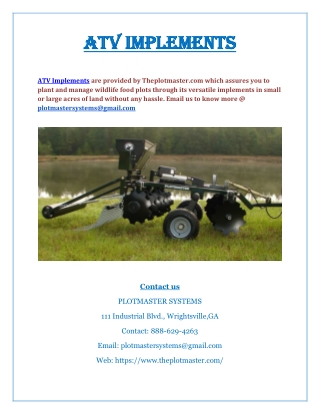 ATV Implements