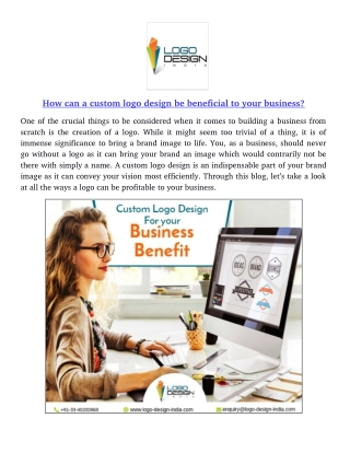 How can a custom logo design be beneficial to your business