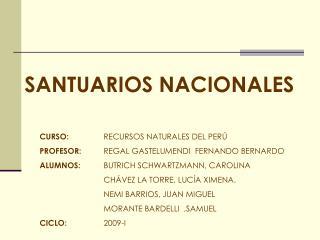 SANTUARIOS NACIONALES
