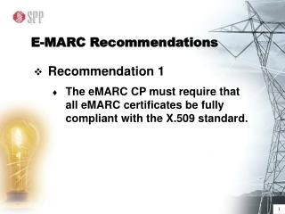 E-MARC Recommendations