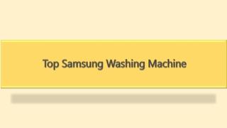 Top Samsung Washing Machine