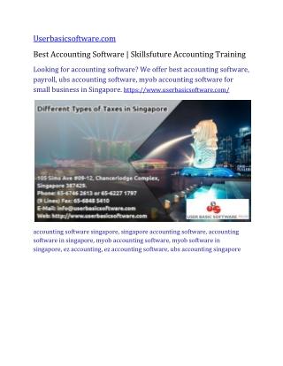 Best Accounting Software Singapore   Skillsfuture Accounting Training