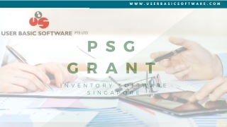 PSG Grant Accounting Software Singapore   User Basic Software