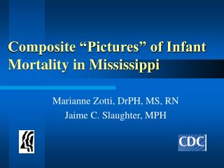 Composite  Pictures  of Infant Mortality in Mississippi