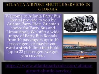 Best Atlanta Airport Shuttle and Limo Rental Service Atlanta in Georgi