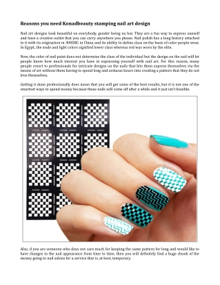 Reasons you need Konadbeauty stamping nail art design