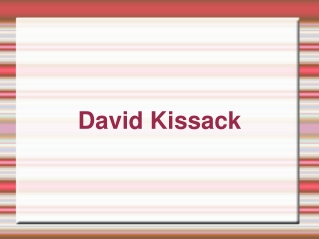 David Kissack – Member Of The American Society Of Technical