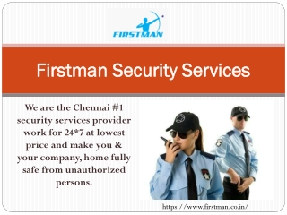 Firstman Security Services
