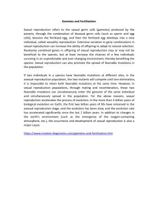Gametes and Fertilization
