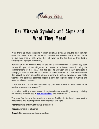 Bar Mitzvah Symbols and Signs and What They Mean!
