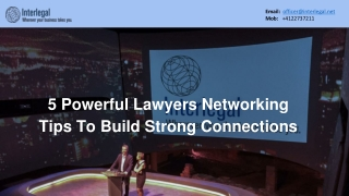 5 Powerful Lawyers Networking Tips To Build Strong Connections