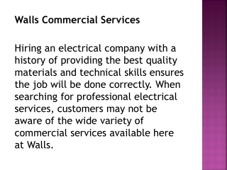 Walls Commercial Services Nanaimo