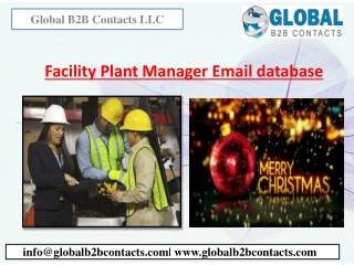 Facility Plant Manager Email Database