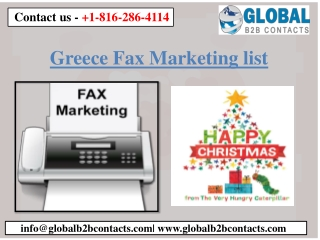 Greece Fax Marketing List